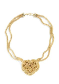 Necklace material from craft store and tie this knot
