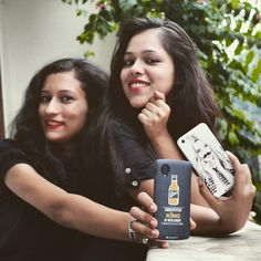 #Food #blogger gunjan and #fashion blogger aanchal showing off their dailyhappiness.  Find yours at www.dailyobjects.com