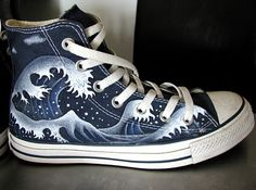 Such a cool way to customize a pair of shoes!