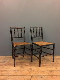 Pair of Bobbin turned chairs