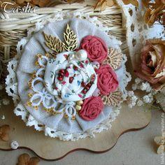 """Купить """"Розовый сад"""" бохо брошь букет, цветы из ткани - брошь цветок, брошь"""