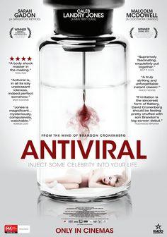 Poster for the incredible Brandon Cronenberg film, ANTIVIRAL