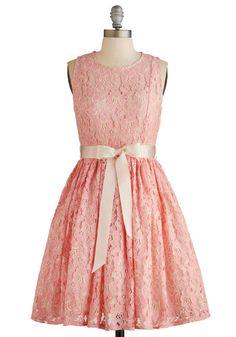Pink lace bridesmaids dress Photo Al Fresco Dress | Mod Retro Vintage Dresses |