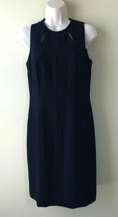 bbdf4f0aa86 LIZ CLAIBORNE Black Sleeveless Lined Cut-Out Sheath Dress Sz 6   LizClaiborne…