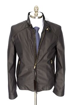 Such a slick look, in this Brioni Charcoal Silk Wool Crocodile Trim Bomber Jacket!  |  Find yours! http://www.frieschskys.com/outerwear  |  #frieschskys #mensfashion #fashion #mensstyle #style #moda #menswear #dapper #stylish #MadeInItaly #Italy #couture #highfashion #designer #shopping