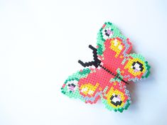 DIY Hama perler butterfly (with pattern) by Frk. Hansen