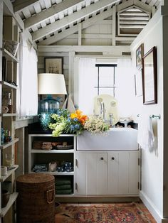 How to Get New Kitchen Lighting Without Calling an Electrician Beautiful Kitchens, Cool Kitchens, French Kitchens, Kitchen Cabinets Hinges, Exposed Rafters, Sweet Home, French Cottage, Southern Cottage, Cottage Style