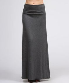 Take a look at this Charcoal Maxi Skirt by BOLD & BEAUTIFUL on #zulily today!