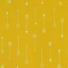 1 Yard Arrows Gold Arrow Flight Collection Michael by ModernCloth