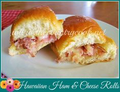 Hawaiian Ham  Cheese Rolls - scrumptious, super easy to make.. made these for dinner when hosted 3 other couples (big hit!!)