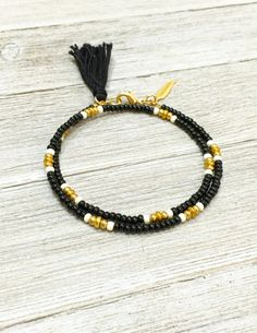 Friendship Wrap Bracelet, Beaded Layering Wrap Bracelet, Tassel Bracelet, Simple Seed Bead Bracelet, Friendship Jewelry, Best Friend Gift