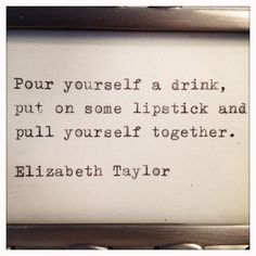 Elizabeth Taylor quote Typed on Typewriter and Framed.