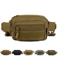 Tactical Waist Bag Women Men Sport Military Fanny Pack Shoulder Messenger Pouch  #Unbranded #WaistBagMessengerBagShoulderBagClutchBag