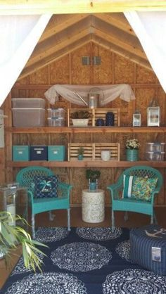 The perfect She Shed display at Home Depot! What would you do with a she shed in… Home Depot, Craft Shed, Diy Shed, Shed Organization, Shed Storage, Small Storage, She Shed Decorating Ideas, She Shed Interior Ideas, Shed Kits