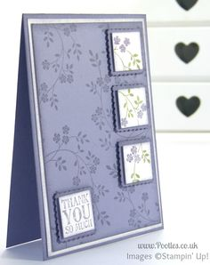 Stampin' up! UK Demonstrator Pootles - An Element of Hopeful Thoughts.