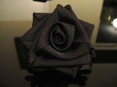 Black Rose Flower Corsage or Brooch
