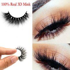 Makeup Long False Eyelashes Handmade Eye Lashes Extension 100% Real 3D Mink Hot