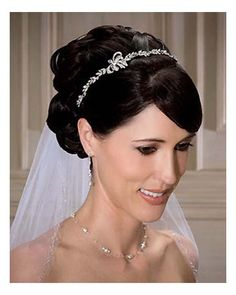Hairstyles, Wedding Hair With Veil And Tiara: Hairstyles with veil