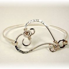 Rosie Heart Bangle Bracelet | JewelryLessons.com