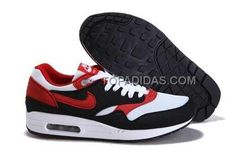 http://www.topadidas.com/nike-air-max-1-87-mens-black-red-white.html Only$79.00 #NIKE AIR MAX 1 87 MENS BLACK RED WHITE #Free #Shipping!