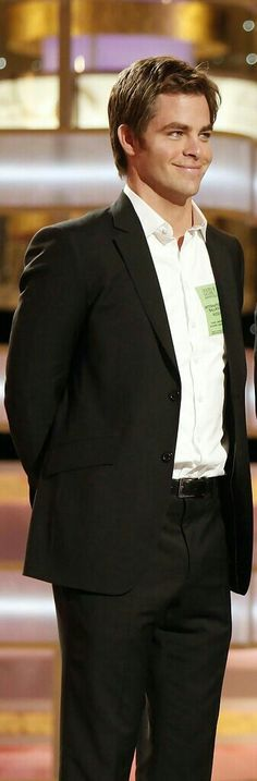 presenting at the golden globes, unless I'm much mistaken. 2009?