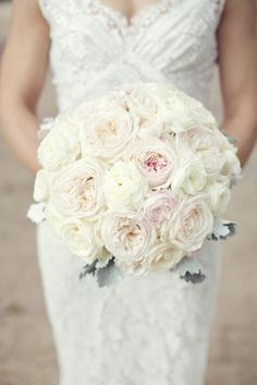 all white wedding bouquet idea via Sarah Kate Photography - Deer Pearl Flowers / http://www.deerpearlflowers.com/wedding-bouquet-inspiration/all-white-wedding-bouquet-idea-via-sarah-kate-photography/
