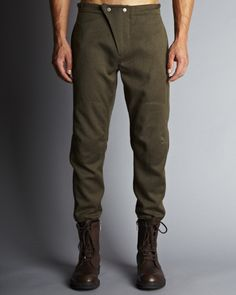 // Aviator Pant - Olive Wool | CADET: Menswear & Clothing - Made in Brooklyn, USA