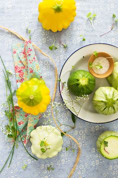 Globe Zucchini Stuffed with Millet and Vegetables - From: La Tartine Gourmande
