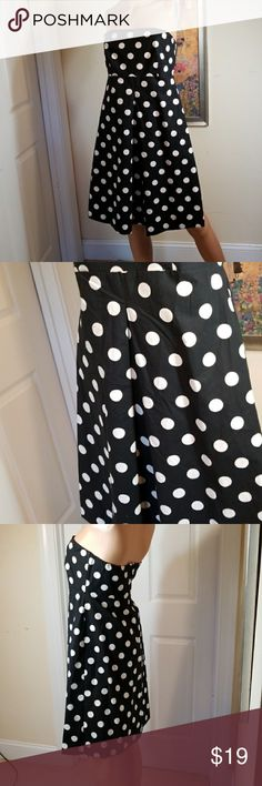 💋3/$24💋NY&C STRAPLESS POLKA DOT DRESS Excellent condition.   💋3 for $24💋 BUNDLE any 3 items (listed 3 for $24), IGNORE  the bundle price & OFFER $24 🌺See mannequin listing for size reference.   Also CHECK OUT my 🦄3 for $15🦄, ⚘3 for $50⚘ & ♥️10 for $10♥️ sale!  Why SHOP MY Closet? 💋Smoke/ Pet Free 💋OVER 1000 🌟🌟🌟🌟🌟RATINGS 💋POSH AMBASSADOR &TOP 10% Seller  💋TOP RATED 💋 FAST SHIPPER   💋BUNDLES DISCOUNT 💋EARN VIP DOLLARS W/ EVERY PURCHASE ❤HAPPY POSHING!!! 💕 New York & Company…