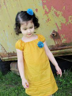 mama says sew: The Sunshine Dress - I love the pintucks.
