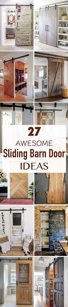 Get inspired by these 27 sliding barn door ideas for any room in your house.