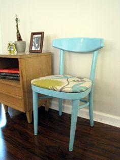 Vintage Modern Chair Aqua by greymaggy on Etsy, $124.95