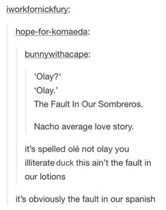 The Fault in our Spanish