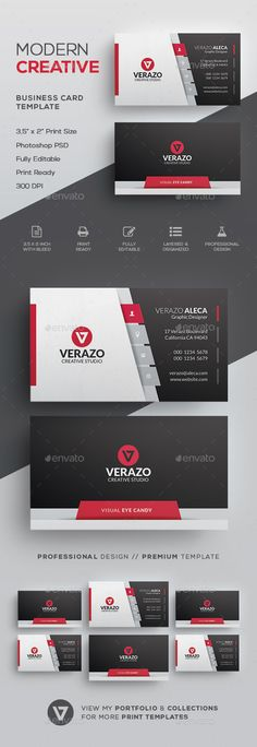 767 best design business cards images on pinterest creative creative modern business card template accmission Gallery