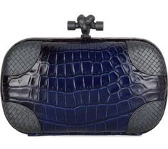 This Bottega Veneta crocodile and metal clutch.   38cedb2eb789a