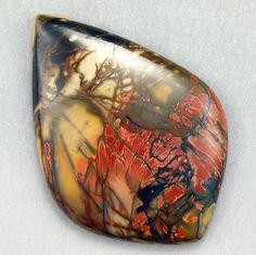 Red Creek Picasso Jasper  Hand Cut Freeform by WildRavenStudio, $28.00