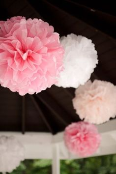 Tissue paper pom pom balls..how divine by Maiden11976