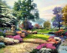 jardin con rosas de colores - Buscar con Google