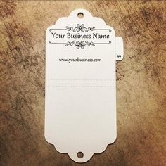 Foldover Necklace and Bracelet Tags