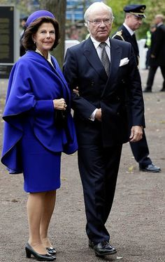 King Carl Gustav and Queen Silvia met with Pope Francis at the Royal Palace in Lund