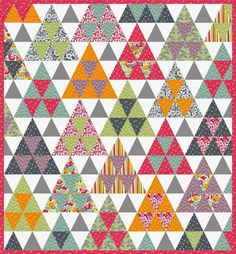 """= free pattern = Meadow Quilt, 54 x 58"""", by Beth Studley for Makower"""