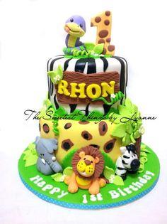 zoo safari cake
