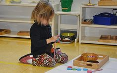 At Metropolitan Montessori School, children participate in many activities that develop their focus and their manual dexterity.