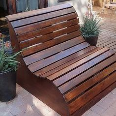 slat garden love seat, diy, how to, outdoor furniture, outdoor living, painted furniture, woodworking projects #WoodProjectsDiyYards #outdoorsliving #WoodworkPlans #woodworkingprojects