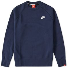 Nike AW77 Fleece Crew (6750 RSD) ❤ liked on Polyvore featuring men's fashion, men's clothing, men's hoodies, men's sweatshirts, mens fleece sweatshirts, mens crew neck sweatshirts, nike mens sweatshirt and mens crewneck sweatshirts