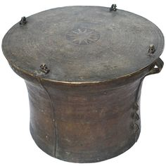 Would it survive outdoors? or mancave 19th Century Southeast Asian Bronze, Rain Drum Makes Excellent Table