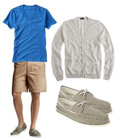 Men's shoes and shorts summer styles