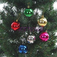 3364c4ee4fa YYaaloa Exquisite MINI Balls Ornaments for Christmas Tree Decor Decoration  Ball Decorative Pendants Hanging Christmas Baubles