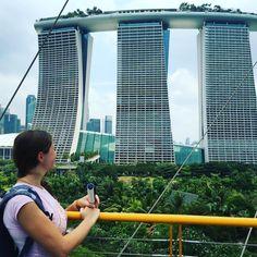 БЛОГИНГ | ПРОДВИЖЕНИЕ БЛОГА в Instagram: «Люблю путешествия за незабываемые впечатления и особенную атмосферу в каждой стране. Сады у залива - одно из мест в Сингапуре, откуда…» Golden Gate Bridge, Skyscraper, Multi Story Building, Travel, Skyscrapers, Viajes, Destinations, Traveling, Trips