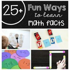 25 fun ways to learn math facts square image